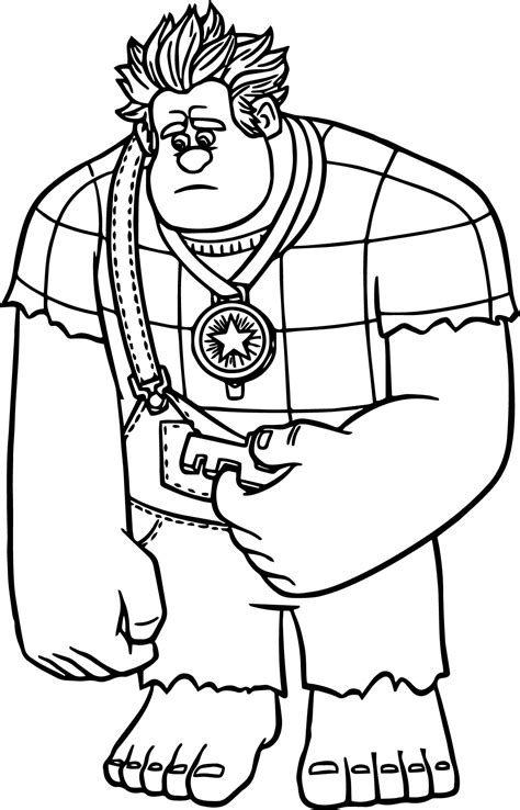 Kleurplaat Sorry by Wreck It Ralph Sorry Coloring Page Wecoloringpage