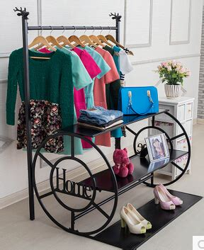 clothing display shelf clothes tree hanging clothes rack