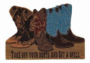 Cowboy Take Off Your Boot and Set A Spell Doormat
