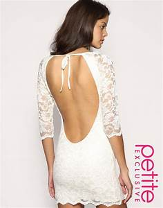 White backless lace dress from ASOS | weddingfunz.com
