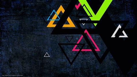 bureau noir but tlcharger fond d 39 ecran triangles couleur fond noir fonds