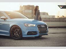 Sky Blue Audi S3 Sedan on Vorsteiner VFF 103 Wheels in