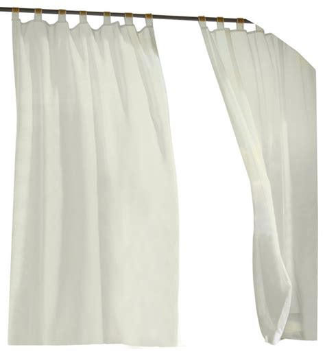 escape indoor outdoor hook and loop tab top curtain panel