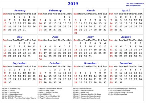 printable calendar indian holiday printable calendar