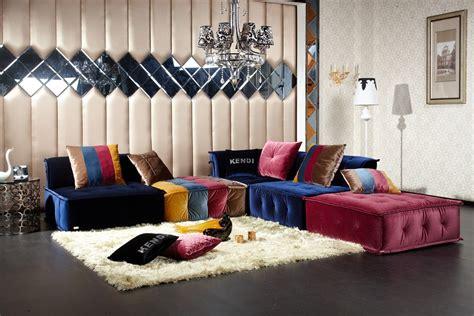 dubai transitional fabric sectional sofa