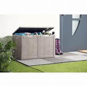Coffre De Jardin Gifi : coffre de rangement marron 180 l mobilier de jardin ~ Dailycaller-alerts.com Idées de Décoration