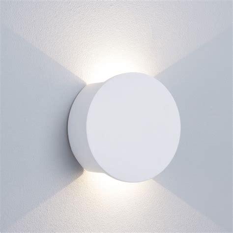 st8447 2lt led white plaster wall light l included national lighting