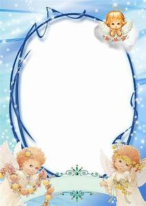 Transparent Blue PNG Frame with Angels | Frames ...