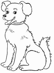 How to Color coloring pages draw a dog for kids concept ...