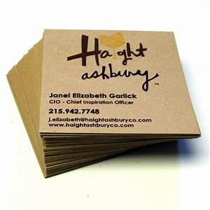 48 custom square recycled kraft business cards design and With business cards recycled
