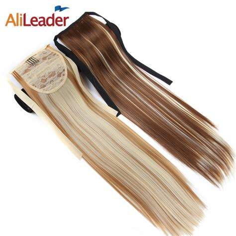 Alileader 20 Clip In Hair Extensions Ponytails Pure Mix