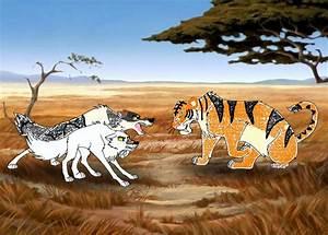 Dire Wolves vs Smilodon by masonday on DeviantArt