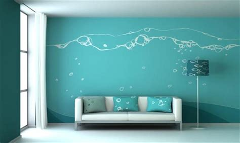deco wall paint blue wall painting design ideas for living room