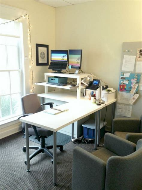 dual monitor standing desk ikea 15 diy computer desks tutorials for your home office 2017