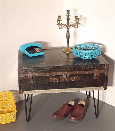 trunk coffee table foot locker hairpin legs