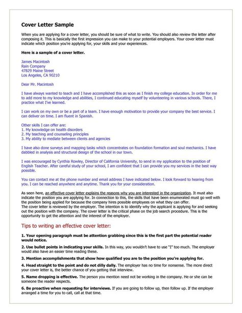172 best cover letter sles images on resume