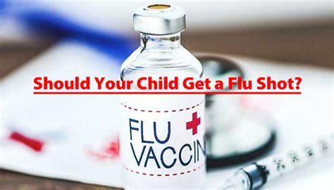 child   flu shot      time