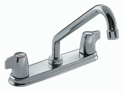 robinet de cuisine moen moen ii robinet de cuisine 224 2 poign 233 es fini chrome home depot canada