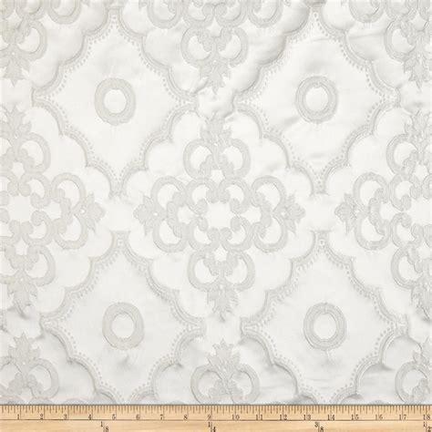 lacoste satin damask dimensional jacquard white discount designer fabric fabric com