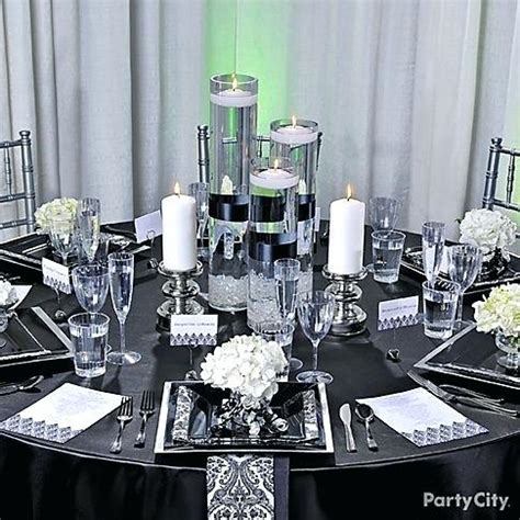 black and white decorations for wedding black and white centerpiece black white decorations