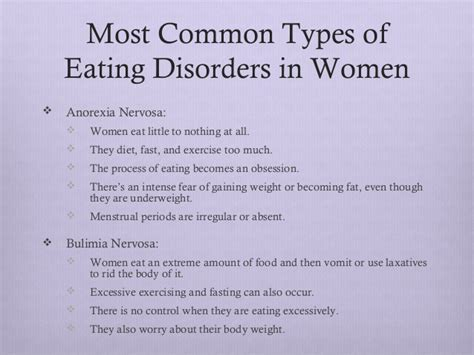 Women And Eating Disorders