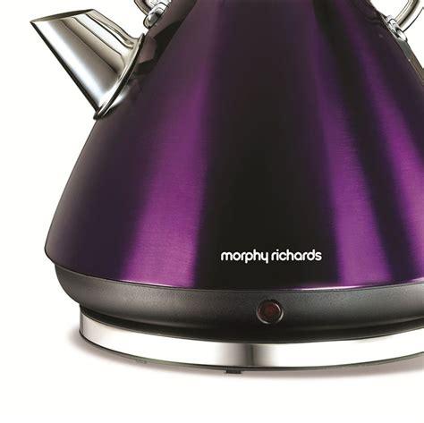 morphy richards plum kitchen accessories morphy richards 43769 accents plum kettle 1 5l 9290