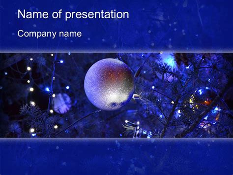 blue christmas powerpoint template
