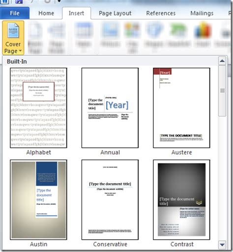 How To Make A Cover Page In Word For Resume make a cover page on word 2010 easytweaks