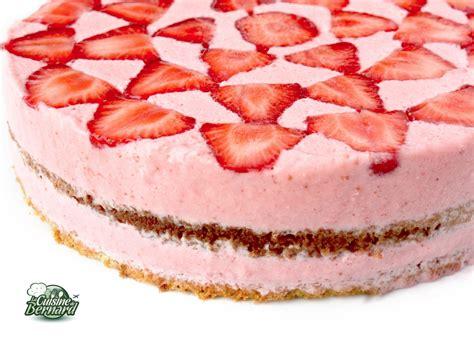 la cuisine de aux fraises la cuisine de bernard gâteau aérien aux fraises