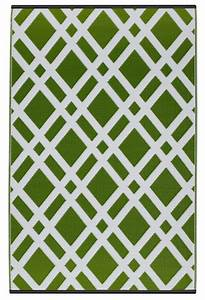 Teppich Grün Weiß : garten im quadrat outdoor teppich dublin gr n wei rauten ~ Indierocktalk.com Haus und Dekorationen