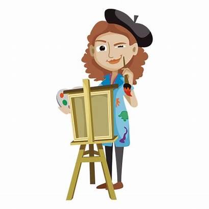 Cartoon Artist Creative Artista Animados Mujer Dibujos