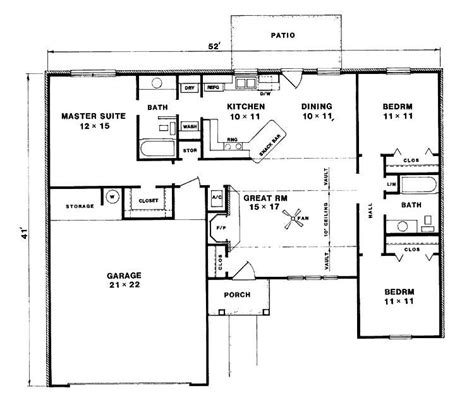 lovely  bedroom bungalow house plans  home plans design