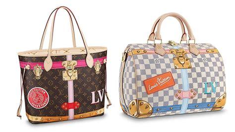 classic handbags  color stickers   loving louis vuittons  summer capsule