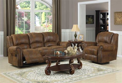reclining microfiber sofa and loveseat set homelegance quinn reclining sofa set bomber jacket microfiber u9708bj 3