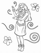 Coloring Hula Printable Coloringcafe Pdf Sheet Colouring Paper Button Standard Prints Below sketch template
