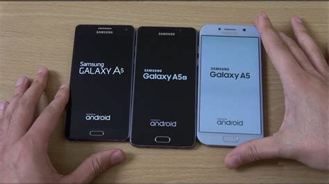 samsung galaxy a5 2017 vs a5 2016 vs a5 2015 speed test
