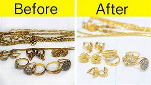 how to clean gold ornaments in home