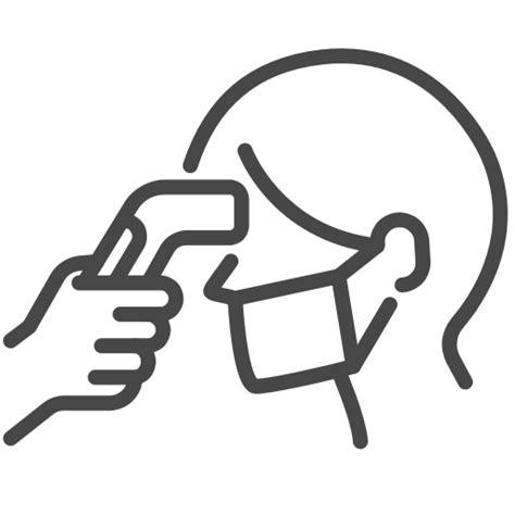 Body temperature, check, fever, scan icon