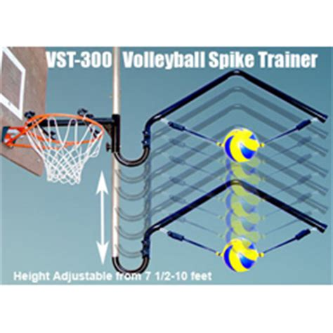 basketball hoop mounted hanging volleyball spike trainer