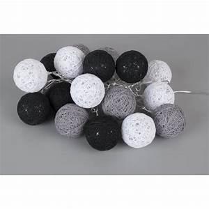 Guirlande Boule Lumineuse : guirlande lumineuse led bubble 20 boules 3 m noir gris et blanc achat vente guirlande ~ Teatrodelosmanantiales.com Idées de Décoration