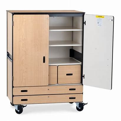 Storage Cabinet Mobile Drawers Shelves Classroom Virco