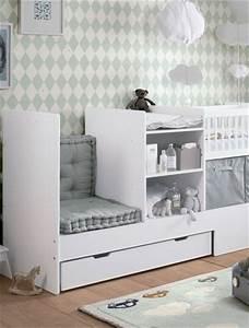 chambre bebe lit transformable blanc photo 6 10 un With chambre bébé design avec livraison fleurs luxembourg