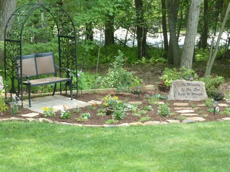 Our Memorial Garden For Our Son, Featuring A Custom Made