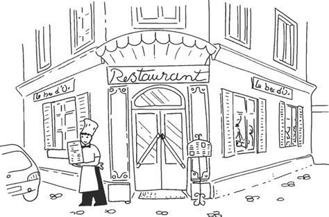 dessin cuisine image restaurant dessin