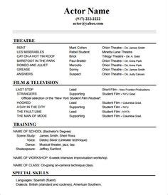 Acting Resume Format by Free Employment Verification Forms Click On The