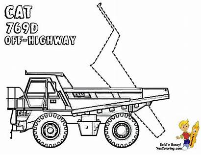 Coloring Truck Dump Pages Highway Cat Trucks