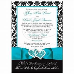 wedding invitation photo optional black and white With wedding invitation designs aqua blue
