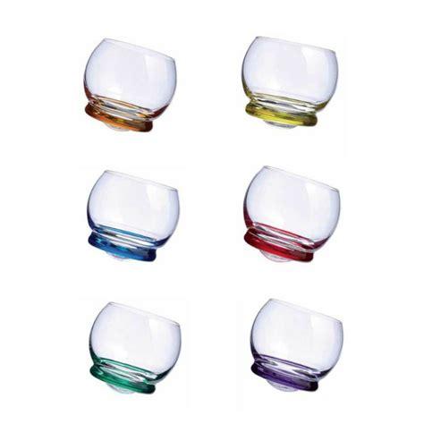 Bicchieri Rogaska by Trottola 6 Bicchieri Basculanti Rogaska Domustore