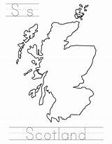 Scotland Print Coloringpages Countries Trace Index 164k sketch template