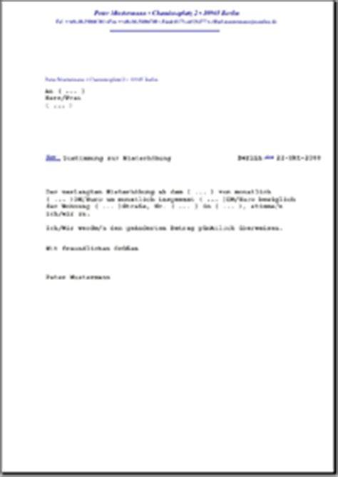 zustimmung zur mieterhoehung de musterbrief